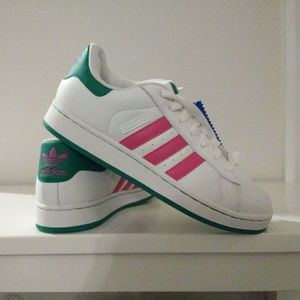 Adidas Campus ST Sneakers NWT pink/white/green 8.5